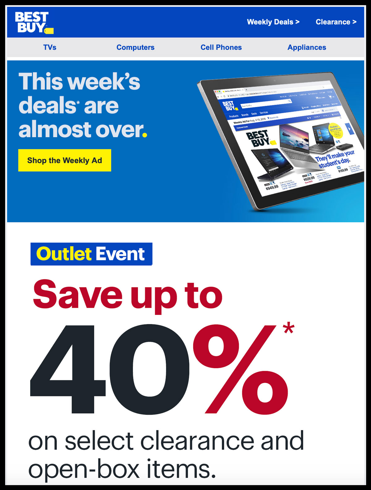 Image of Best Buy promotional email